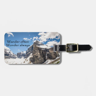 Wander often Banff National Park luggage tag