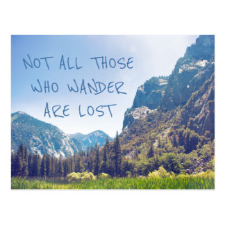 Wander Quote - Kings Canyon | Postcard