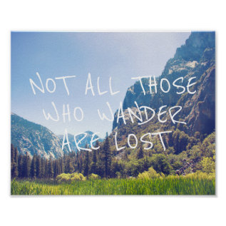 Wander Quote - Kings Canyon | Poster at Zazzle