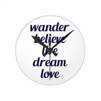 Wander Round Clock