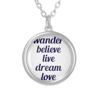 Wander Silver Plated Necklace