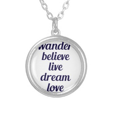 Beach Themed Wander Silver Plated Necklace