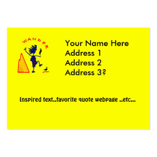 Wander Whimsy Large Business Card
