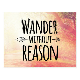 Wander Without Reason Postcard