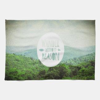 Wander Without Reason, tea towel