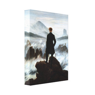 Wanderer above the Sea of Fog 3D Wrapped Canvas Stretched Canvas Prints