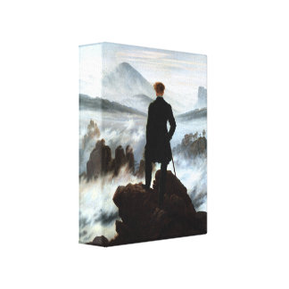 Wanderer above the Sea of Fog 3D Wrapped Canvas Canvas Print