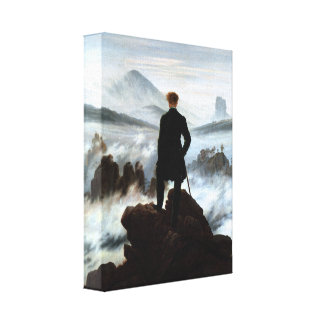 Wanderer above the Sea of Fog 3D Wrapped Canvas Gallery Wrap Canvas