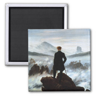Wanderer above the Sea of Fog by Friedrich Refrigerator Magnets