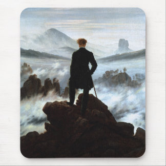 Wanderer above the Sea of Fog by Friedrich Mouse Pad