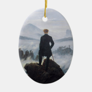 Wanderer above the Sea of Fog Ceramic Ornament