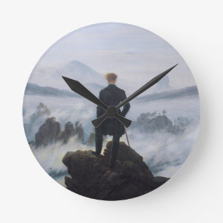 Wanderer above the Sea of Fog Round Clock