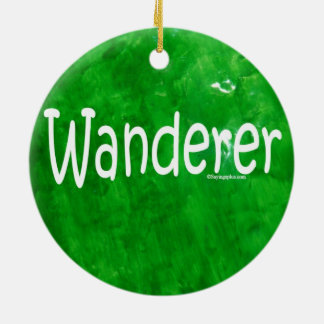 Wanderer Double-Sided Ceramic Round Christmas Ornament