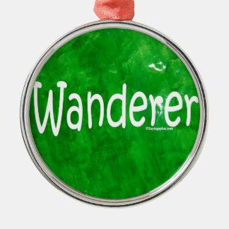 Wanderer Round Metal Christmas Ornament