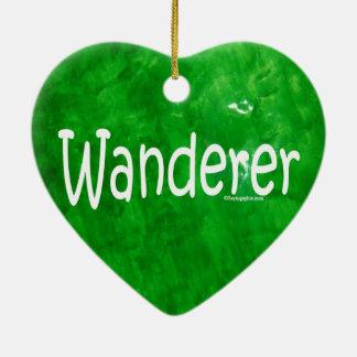 Wanderer Double-Sided Heart Ceramic Christmas Ornament