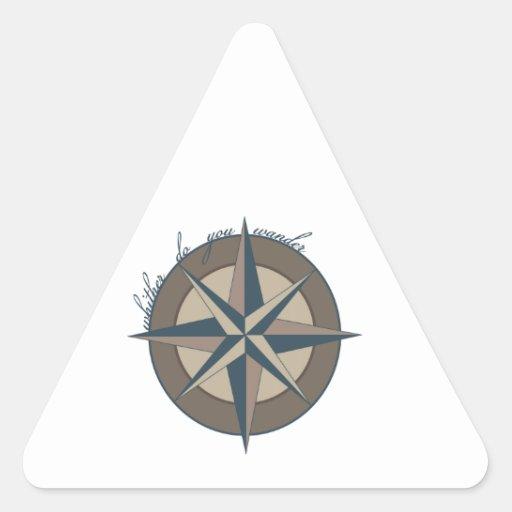 Wanderer Triangle Sticker