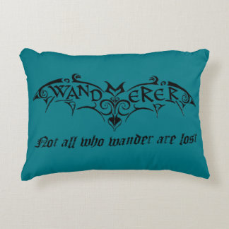 Wanderer Throw Pillow with Bat
