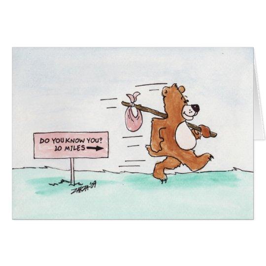 Wandering Bear (Birthday Card) Card