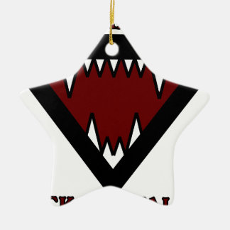 Wandering Dogs Teeth Double-Sided Star Ceramic Christmas Ornament