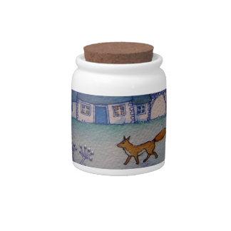 Wandering Fox Candy Jar