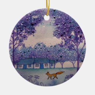 Wandering Fox Ceramic Ornament