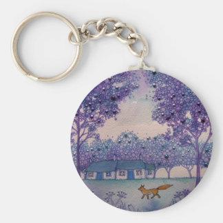 Wandering Fox Basic Round Button Key Ring