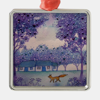 Wandering Fox Metal Ornament
