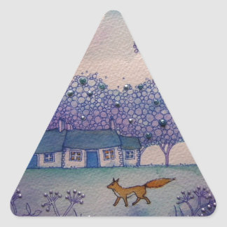 Wandering Fox Triangle Sticker