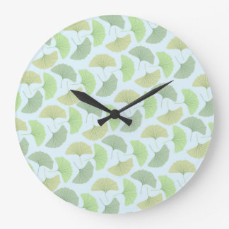 Wandering Green Ginkgo Collection Large Clock