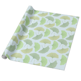 Wandering Green Ginkgo Wrapping Paper