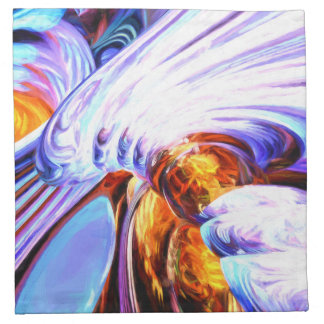 Wandering Helix Painted Abstract Cloth Napkin