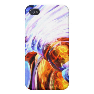 Wandering Helix Painted Abstract iPhone 4 Covers