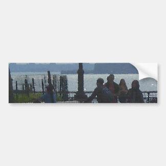 Wandering Hudson River Park CricketDiane Bumper Sticker