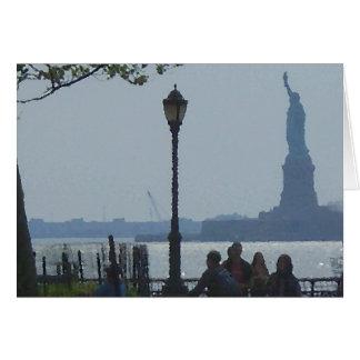 """Wandering Hudson River Park""  CricketDiane Card"
