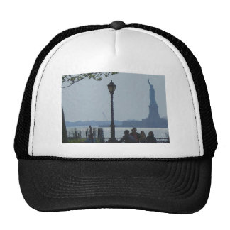 Wandering Hudson River Park Lady Liberty USA Trucker Hat