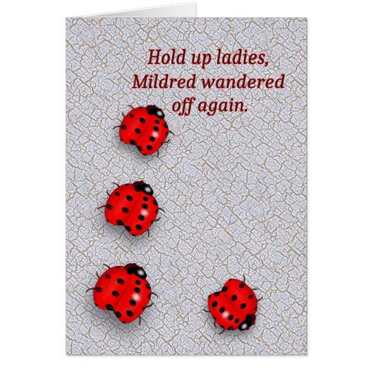 Wandering Ladybug Birthday Card – Ladybug Birthday Cards