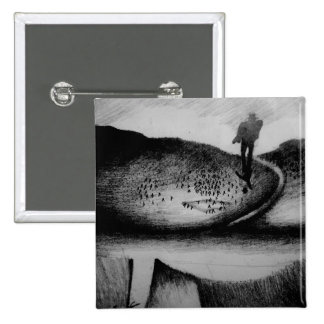 Wandering Man 2 Inch Square Button