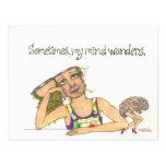 wandering mind postcard