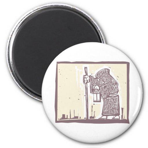 Wandering Monk 2 Inch Round Magnet