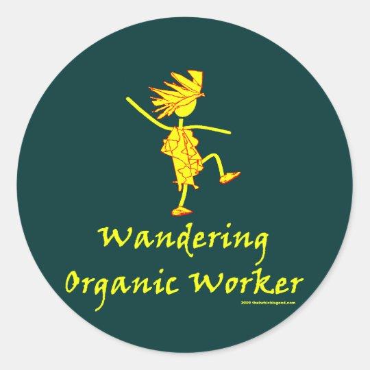 Wandering Organic Worker (WOOFER) Classic Round Sticker
