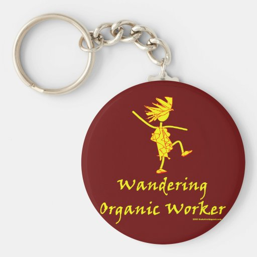 Wandering Organic Worker (WOOFER) Basic Round Button Keychain