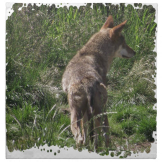Wandering Red Wolf Cloth Napkin