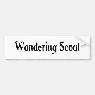 Wandering Scout Bumper Sticker