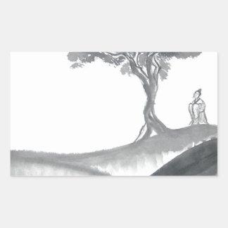 Wandering Taoist Monk Rectangular Sticker