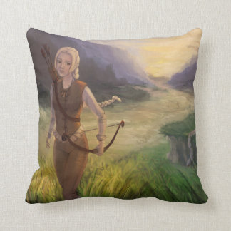 Wandering the Land Fantasy Art Throw Pillow