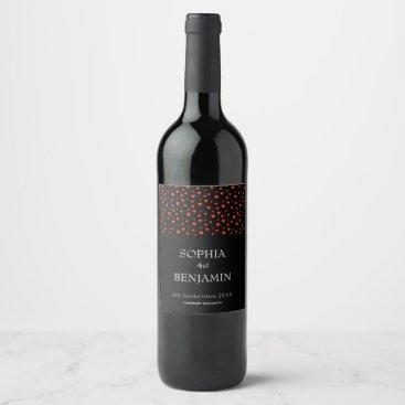 Wandering wavy wine label