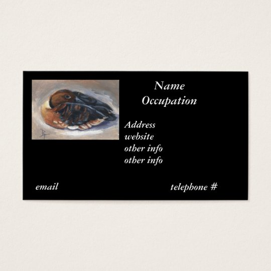 Wandering Whistling Duck Business Card