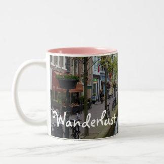 Wanderlust 3 Two-Tone coffee mug