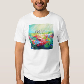 WANDERLUST Abstract Nature Art Typography Painting Shirt