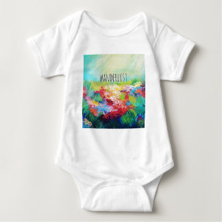 WANDERLUST Abstract Nature Art Typography Painting T Shirt
